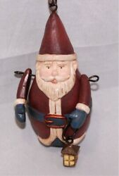 Santa Claus Holding Lantern Country Christmas Ornaments Holiday Decorations