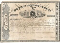 American Express Company Certificate 1861 Signed Henry Wells William Fargo