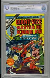 Giant-size Master Of Kung Fu 4 Cbcs 9.8 White Pages Highest Graded