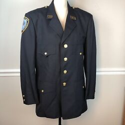 Ny- Triborough Bridge Tunnel Authority Officer Vintage Jacket 42 R Patch Pins