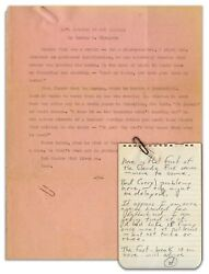 Hunter Thompson Typed Story Featuring His ''claude Fink''