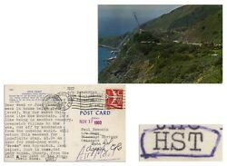 Hunter S. Thompson Typed Postcard Signed Re Big Sur