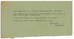Hunter S. Thompson Typed Note From December 1960