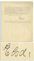 Elsa Einstein Letter Signed From 1933 As Albert Came Us