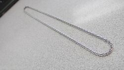 Awesome 14k White Gold Unisex Necklace 20 Inch X 3 Mm For Him Or Her Make Offer