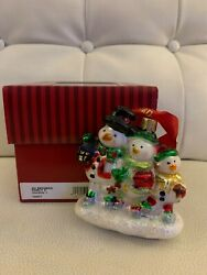 Waterford Holiday Heirlooms Snowman Family 154577 Nib