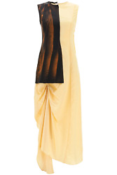 New Marni Asymmetrical Dress With Draping Abma0630q5tv470 Soia Authentic Nwt