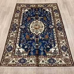 Yilong 4and039x6and039 Handknotted Silk Floral Rug Home Interior Traditional Carpet Wy392c