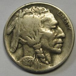 1927-s Buffalo Nickel Grading Vf Uncleaned Coin Priced Right Shipped Free R8