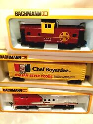 New In Boxes Vintage All Aboard The Chef Boy .ar.dee Ho Train Set Bachmann