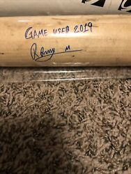 Ronny Mauricio Ls Signed Game Used Uncracked Bat Mets Onyx Cert