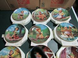 Hummel Gentle Friends Collector Plates By Danbury Mint Set Of 12 With Coa's
