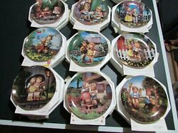 Hummel Little Companions Collector Plates By Danbury Mint Set Of 12 With Coa's