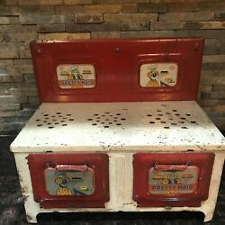Vintage Pretty Maid Metal Toy Stove/oven