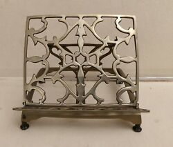 Brass Book Stand Easel Bible Music Adjustable Tabletop