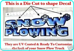 Snow Plowing Custom 1 Decal Stick To Your Meyer Fisher Western Plow Truck Sp