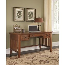 Arts Andamp Crafts Cottage Oak Executive Desk By Home Styles