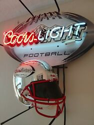 Coors Light Football Beer Electric / Neon Sign