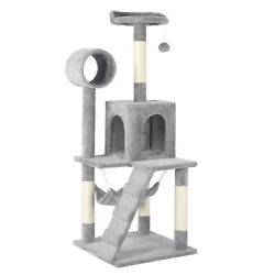 51#x27;#x27; Cat Tree Tower Cat Condo Multilevel Cat Towers Tunnel Scratching Post