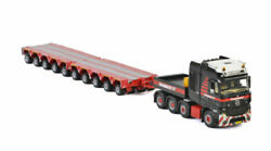 For Benz 8x4 Tractor Truck And 10 Axle Trailer For Mammoet 1/50 Diecast Model Car