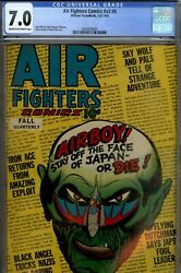 Air Fighters 28-cgc 7.0-higrade Wwii Comic-1944 Hillman Beauty