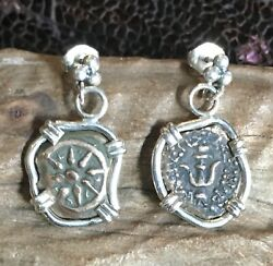 Treasure Coin Jewelry Widowand039s Mite Ancient Biblical Authentic Set Ss Earrings