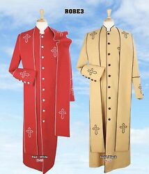 New Modern Royal Diamond Collection Pastor Robe Long Cross Accented Scarf