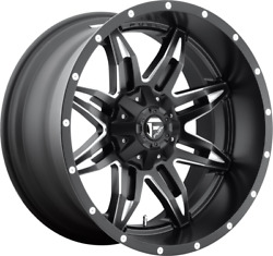20x10 Matte Black Fuel Lethal 2007-2021 Lifted Jeep Wrangler 5x5 -12mm D567