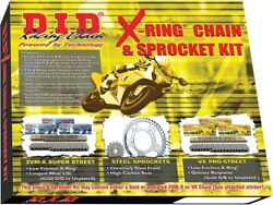 D.i.d. X-ring Chain And Sprocket Kit Front 18t Rear 43t 530zvmx Dks-018g
