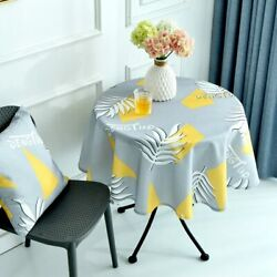 Waterproof Polyester Geometric Kitchen Dining Table Cloth Home Parties Decor