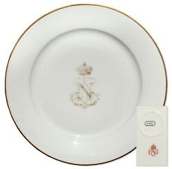 Napoleon Iii Royal China Plate From Tuileries Palace