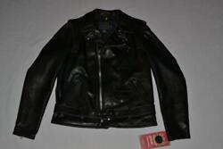 Schott Nyc Waxy Cowhide 50and039s Perfecto Motorcycle Leather 519 Black All Sizes