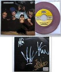 Soundgarden Room A Thousand Years Wide 1990 Sub Pop 7 Autographed 45 Cornell