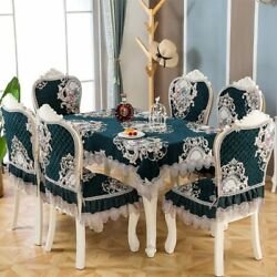 Chair Cover Lace Embroidery Dining Chair Cushion Living Room Decor Square Round