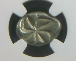 Greek Silver Drachm From Apollonia Pontika In Thrace 5th Century Bc Ngc Vf 1008