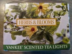 RARE 12 Yankee Scented Tea Lights Herbs amp; Blooms VINTAGE DISCONTINUED NEW