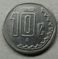 Mexico 10 Centavos 1993mo Stainless Steel Km547 Unc