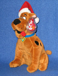 Ty Scooby-doo Christmas Dog With Hat Beanie Baby - Mint With Mint Tags