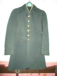 Antique Livery Coat Hand Tailored Lined Dark Green - Size 32