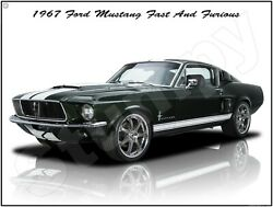 1967 Ford Mustang Fast And Furious Metal Sign 9 X 12 Or 12 X 16