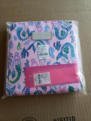 NWT LIlly Pulitzer Getaway Packable Tote Girls Night Out Mermaids Free Ship $55.00