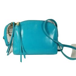 Hobo International women purse Evella Crossbody Turquoise leather zippers $138 $62.00