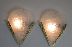 Pair Of French Art Deco Sconces 1925/1930 - Signed Noverdy France
