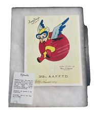 Wwii Aaf Wasp Rare Multiple Autographed Photo Of Famous Aviators