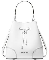 NWT MICHAEL MICHAEL KORS MERCER GALLERY CONVERTIBLE BUCKET LEATHER SHOULDER BAG $157.05