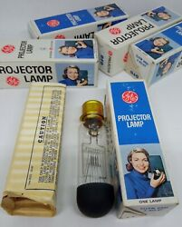 Vintage Ge General Electric Ddb 115-120v 1000w Projector Lamp Bulb With Box Lot