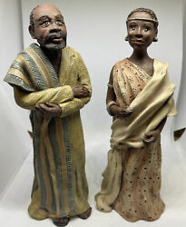 Vintage African Collection By Sarahs Attic Figurines - Shamba And Kaminda