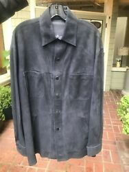 Jose Luis Leather Jacke-shirt Reversible Size 42 Lists For 1195