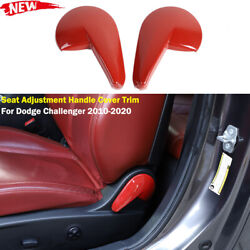 Red Adjustment Seat Handle Switch Cover Trim For Dodge Challenger 2010-2020 2pcs