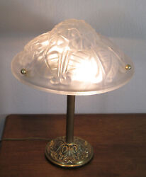 Wonderful French Art Deco Table Lamp 1925 - Signed Degue